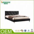 2014 hábil diseño oem madera cómodo doble modelos de cama