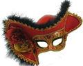 máscara colorida del partido