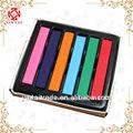 Colores 6 caliente de la moda rápida no- tóxico temporal de pelo tinte tiza suave en colores pastel de bricolaje