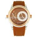 reloj personalizado de doble tiempo de accesorios relojes de los hombres
