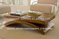 madera mesas de café