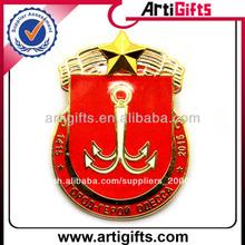 la mejor calidad de oro de metal de seguridad insignia