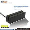 golpe inteligente de banda magnética con lector de 3 pistas de tarjetas USB