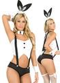 coelho coelho de alice em preto e branco de roupa feminina