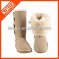 simple botas de piel de oveja real de lana