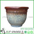 azul ronda maceta de cerámica para la decoración del jardín
