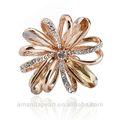 2013 moda strass cruz anéis de flores