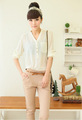 de la mujer 2014 manga larga modelos blusas de gasa