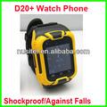 d20+ pantalla táctil reloj teléfono celular a prueba de agua teléfono personalizado con mini auricular bluetooth