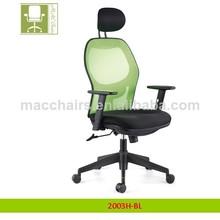 Gerente ejecutivo de malla silla con reposacabezas 2003h-bl mac