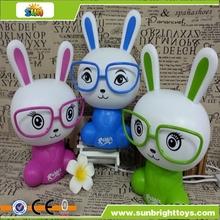 de juguete de plástico de dibujos animados conejos de luz led