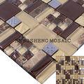 Foshan placas de cristal mezcla de piedra mosaico