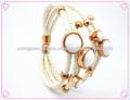 novos produtos quentes para 2014 pulseira de couro trançado