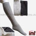 personalizado hecho de las mujeres de espesor de alta de la rodilla calcetín