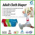 Transpirable happyflute adulto pañal de tela, pañales para adultos suave, lavable