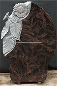 flor de piedra tallado lápida
