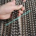 espumoso de bronce de cañón 10mm las cadenas de cuentas divisor de la cortina