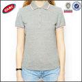 2014 liso en blanco de algodón camisa de polo de diseño para mujeres camisa de polo camisetas