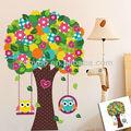 pvc colorido da flor da árvore de de parede para quarto de crianças a arte da parede do decalque/decoração de casa