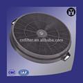 venta caliente cocina lavable filtro de carbón activado para campanas de cocina