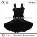 Top preto e conjunto de saia, vestidos da menina infantil, pettiskirt, tutu vestido, meninas saia tutu