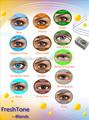 contacts freshtone 25 couleurs de lentilles de contact ton tri corée lentilles de contact de couleur