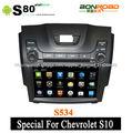 táctil capacitiva pantalla coche dvd para chevrolet s10 con 3g wifi radio rds navegación pipv- cdc corteza a9 doble núcleo 1g ra