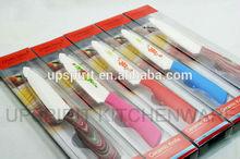 5 pulgadas de cerámica de plástico hoja de cuchillo de mango