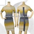 Moda 2014 vendaje gris vestido de dama formal vestido de noche corto h260-2