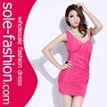 Hermosas desgaste vestidos de coctel corto de color rojo