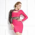 2014 europeo de la moda de vestir vestido de vendaje de buen material
