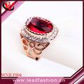top design gemstone rings anneaux grenat pour les femmes