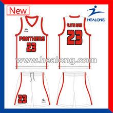De diseño nacional uniforme de baloncesto xs-7xl jersey de color