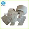 Personalizado die cut agujero doblado de ropa etiqueta de la caída, la promoción de la confección de papel la etiqueta de precio