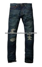 nuevos pantalones vaqueros de diseño de prendas de vestir de China fábrica de los hombres
