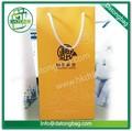 biodegradables reutilizables bolsa de papel de lujo bolsa de papel del vino de la bolsa de papel