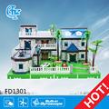 educativos fd1301 bloques de juguete diy villa modelo de plástico para niños bloquesdeconstrucción