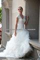 G5381L mangas cortas vestidos de boda