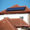 سقف القرميد الشمسية شريحة متزايدة بين قوسين جبل أقواسجدار لوحة الحامل