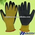 calibre 21 amarillo negro forrada de látex recubiertas guantes de seguridad