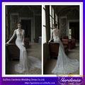 Nouveaux Designers Très sexy robes de mariée à manches longues dentelle avec bas du dos de sirène complet corsage de dentelle
