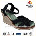 hangzhou yl8511 barato hermosa sandalias de las señoras