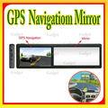 4.3 pulgadas del coche gps espejo retrovisor con gps de navegación para el espejo retrovisor con bluetooth