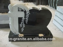 balck granito lápidas del cementerio lápida de proveedor