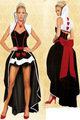 sexy de la reina de corazones vestido disfraz de halloween