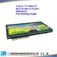 4.3 pulgadas full de ángulo de visión de pantalla tft lcd módulo ssd1963 con controlador de placa lcd con panel módulo del lcd