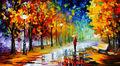 hecho a mano hermoso paisaje óleo sobre lienzo