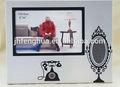 de navidad de aleación de aluminio marco de fotos con niña hermosaimagen marco de fotos