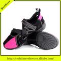 suede superior de color rojo 5 colores de danza jazz zapatillas de deporte