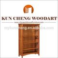 Librería de la esquina de la pared estantes para mostrar/sólido de madera estantería/librería